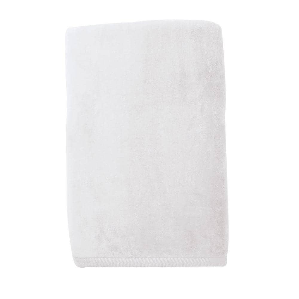 The Company Store Cotton Fleece White Twin Woven Blanket Ko18 T White The Home Depot
