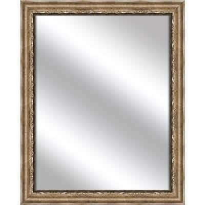 Medium Rectangle Dark Champagne Art Deco Mirror (32.375 in. H x 26.375 in. W)