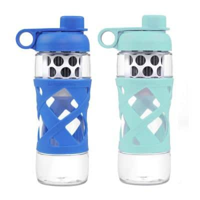 22 oz. Water Bottle with Built in Filter System (2-Pack)