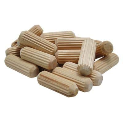 1.13 in. x 1/4 in. Fluted Dowel Pins