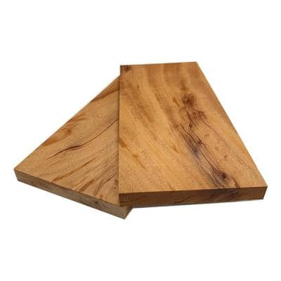 2 in. x 12 in. x 2 ft. African Mahogany S4S Board (2-Pack)