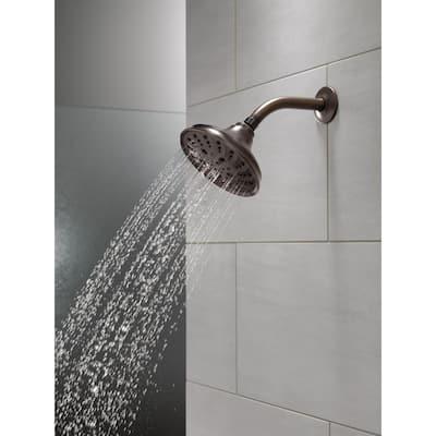 Pivotal 5-Spray 6 in. Single Wall Mount Fixed Rain H2Okinetic Shower Head in Venetian Bronze