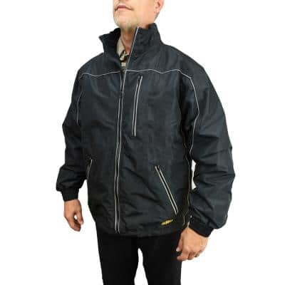 Men's XXXLarge 20-Volt MAX XR Lithium-Ion Black Lightweight Poly Shell Bare Jacket with 1 USB Power Adapter