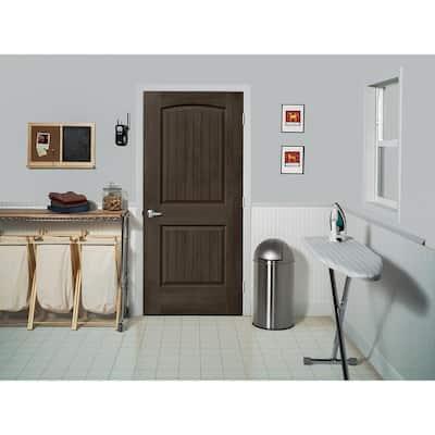 36 in. x 80 in. Santa Fe Espresso Stain Left-Hand Molded Composite MDF Single Prehung Interior Door