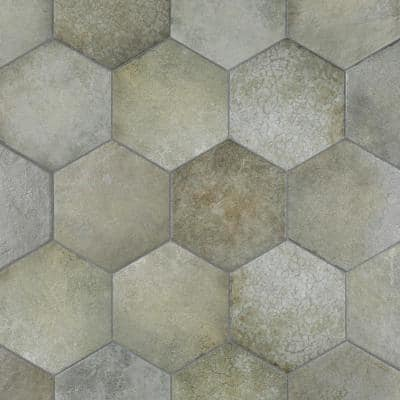 Heritage Hex Jungle 7 in. x 8 in. Porcelain Floor and Wall Tile (7.67 sq. ft./Case)