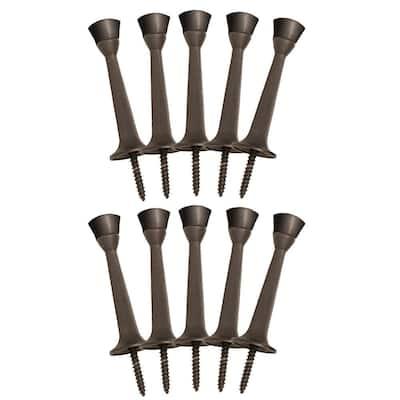 Oil Rubbed Bronze Rigid Cast Door Stop (10-Pack)