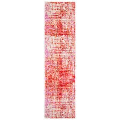 Adirondack Red/Gold 2 ft. x 8 ft. Abstract Runner Rug