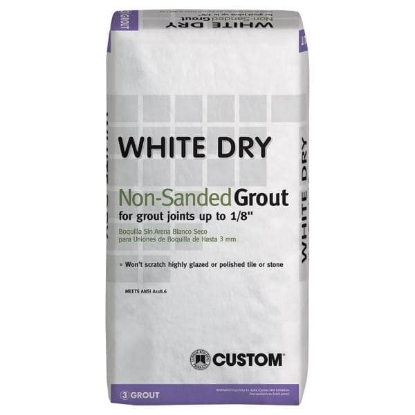White Dry 25 Lbs Non Sanded Grout