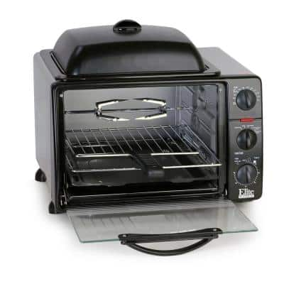 Platinum 0.8 cu. ft. Black Multi-Function Toaster Oven with Griddle