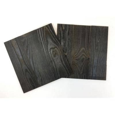 Thermo-Treated 1/2 in. x 16 in. x 16 in. Barn Wood Wall Decorative Panel / Picture Frame (4 Sq. Ft. per 2-Pack)