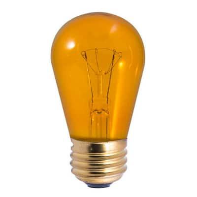 11-Watt S14 Transparent Amber Dimmable Incandescent Light Bulb (25-Pack)