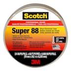 Scotch 3/4 in. x 66 ft. x 0.008 in. Super 88 Vinyl Electrical Tape, Black