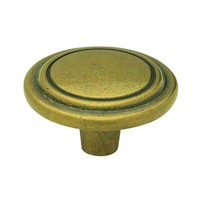 1-1/4 in. (32mm) Antique Lancaster Round Cabinet Knob