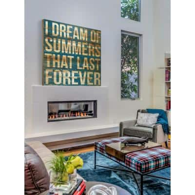 """24 in. H x 24 in. W """"I Dream of Summers"""" by Marmont Hill Printed Natural Pine Wood Wall Art"""