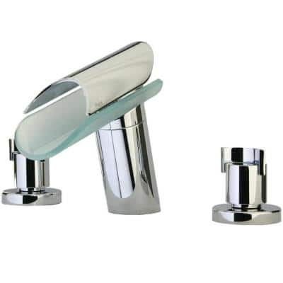 Morgana 2-Handle Non-Deck-Plate Roman Tub Faucet with Wenge Spout in Chrome