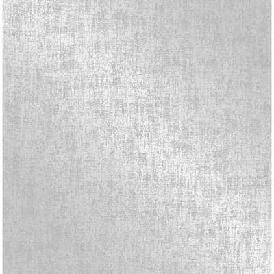 Asher Silver Distressed Strippable Wallpaper (Covers 56.4 sq. ft.)
