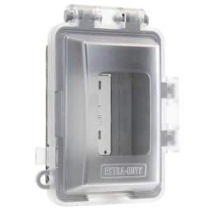 Clear 1-Gang Extra-Duty Non-Metallic While-In-Use Weatherproof Horizontal/Vertical Receptacle Cover