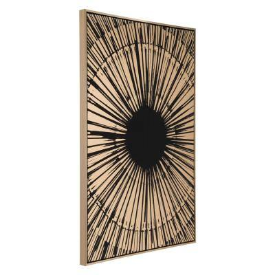 """""""Gold Sunburst"""" Printed Canvas Wall Art 33 in. x 48 in."""