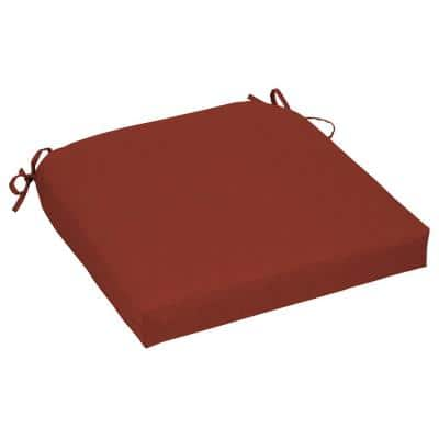 Chili Contoured Outdoor Seat Cushion (2-Pack)