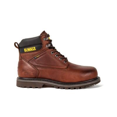 Men's Axle Waterproof 6 in. Work Boots - Soft Toe - Walnut Pitstop Size 10.5(W)