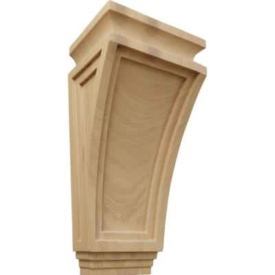 6 in. x 4-3/4 in. x 12 in. Cherry Arts and Crafts Corbel