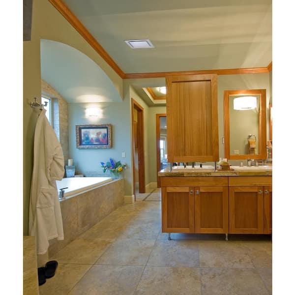 Reviews For Aero Pure Low Profile 110 Cfm Quiet Ceiling Bathroom Ventilation Fan 0 9 Sones White Abf110 G15 W The Home Depot