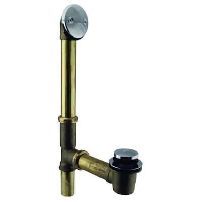 Tip-Toe Bath Waste - 14 in. Make-Up, 20-Gauge Tubing, Polished Chrome