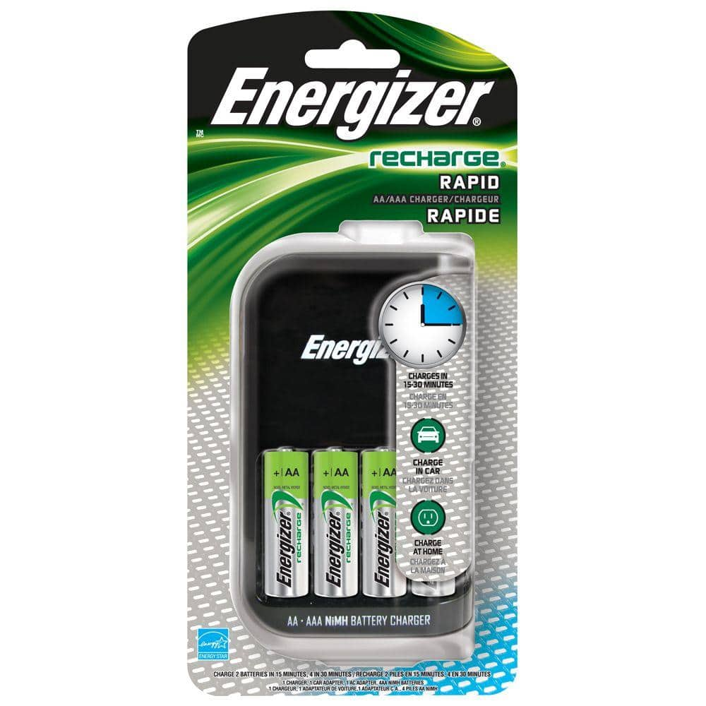 Energizer 4aa Rapid Charger Ch15mncp4 The Home Depot