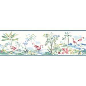 Lagoon Teal Watercolor Teal Wallpaper Border