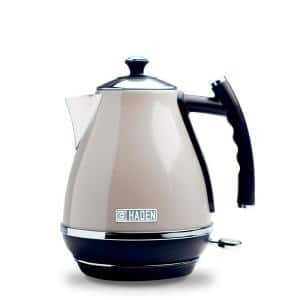 Cotswold 1.7 l 7-Cup Beige Stainless Steel Electric Kettle with Auto Shut-Off and Boil-Dry Protection