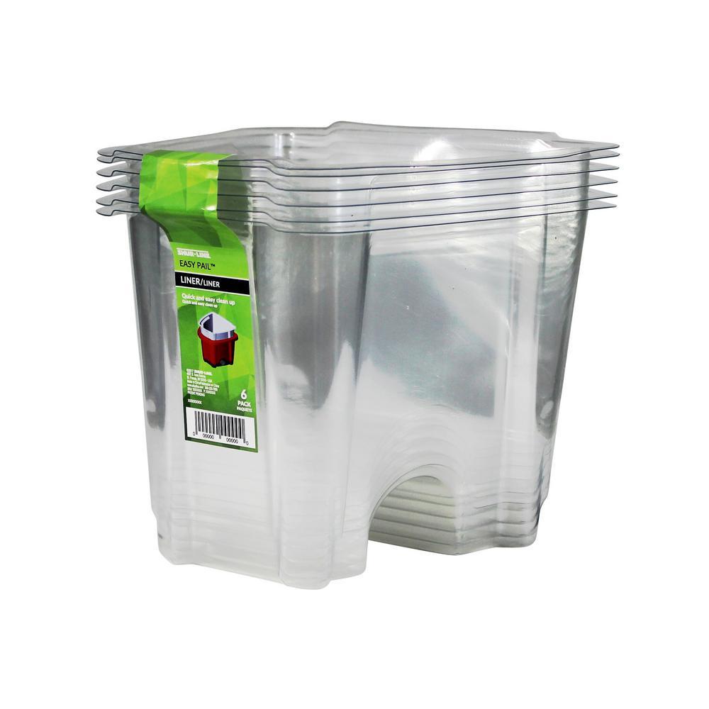 1 qt. Plastic Easy Pail Liner (6-Pack)