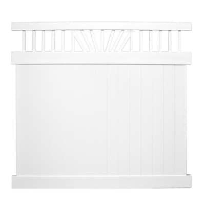 Annapolis 7 ft. x 6 ft. White Vinyl Privacy Fence Panel Kit