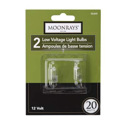 20-Watt Clear Glass G4 Bi-Pin Halogen Replacement Light Bulb (2-Pack)