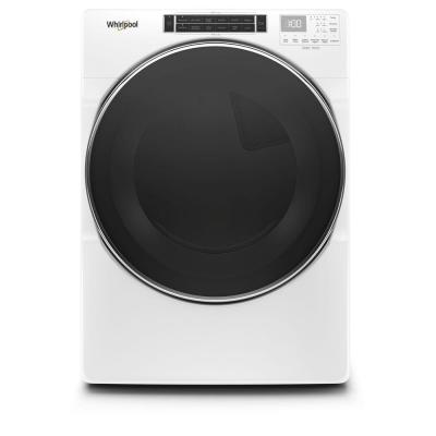 7.4 cu. ft. 240-Volt White Stackable Electric Dryer with Steam and Intuitive Touch Controls, ENERGY STAR
