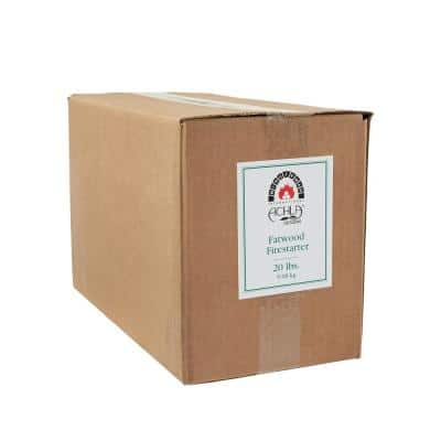 Fire Starting Fatwood Sticks in Refill Box 20 lbs. Natural Fatwood