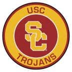 NCAA University of Southern California Gold 2 ft. x 2 ft. Round Area Rug