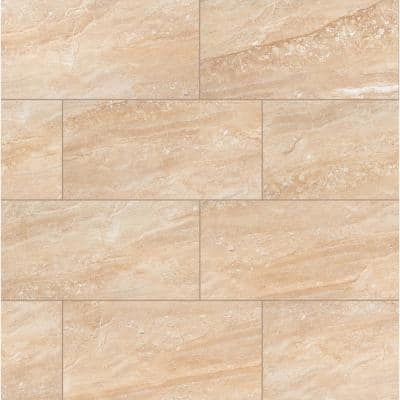 Aria Oro 12 in. x 24 in. Polished Porcelain Floor and Wall Tile (16 sq. ft. / case)