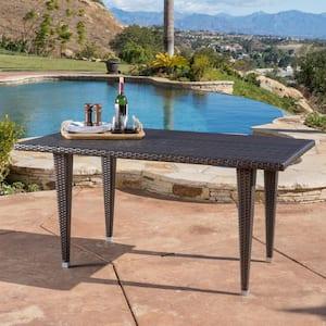 Gloria Multi-Brown Rectangular Wicker Outdoor Dining Table