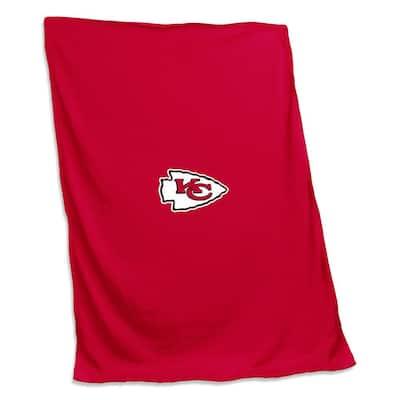 Kansas City Chiefs Red Polyester Sweatshirt Blanket