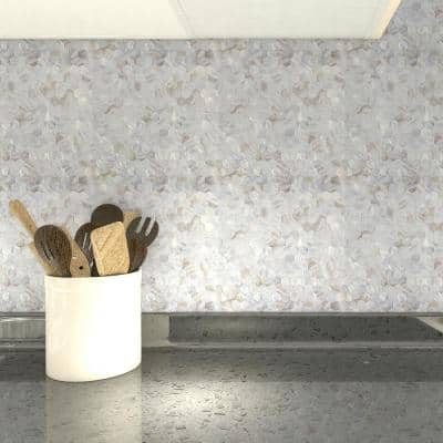 Hexagon White 11.8 in x 11.8 in Water Cube Mother of Peal Stone Mosaic Tile (10 sheets/case)