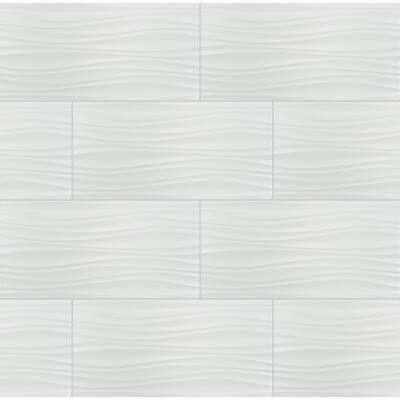 Sapheda Riptide Satin 12 in. x 24 in. Matte Wall Ceramic Tile (16 sq. ft./Case)