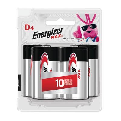 MAX D Batteries (4 Pack), D Cell Alkaline Batteries