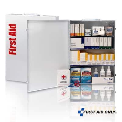 4-Shelf 150-Person Metal Cabinet, OSHA, First Aid Kit (1060-Piece)
