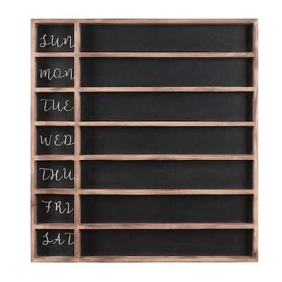 26 in. H x 24 in. W Wood 7-Day Week Chalkboard