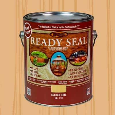 1 gal. Golden Pine Exterior Wood Stain and Sealer
