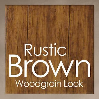 Rustic Brown Woodgrain and Black Farmhouse Style Entryway Hall Tree Coat Rack