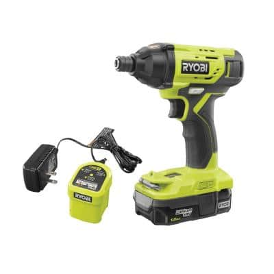 ONE+ 18V Cordless 1/4 in. Impact Driver Kit with 1.5 Ah Battery and Charger