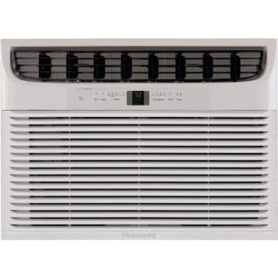18,500 BTU Window-Mounted Room Air Conditioner in White with Heat and Remote