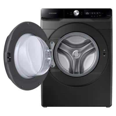 4.5 cu. ft. Large Capacity Smart Dial Front Load Washer with Super Speed Wash in Brushed Black