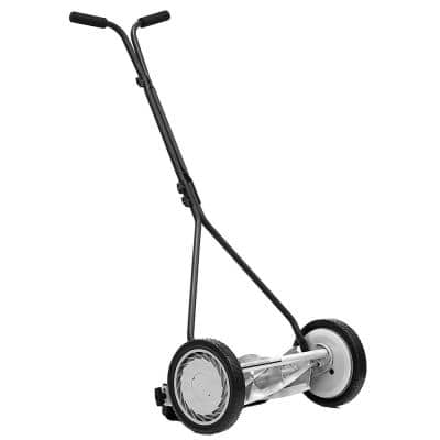 16 in. 5-Blade Manual Walk Behind Reel Lawn Mower
